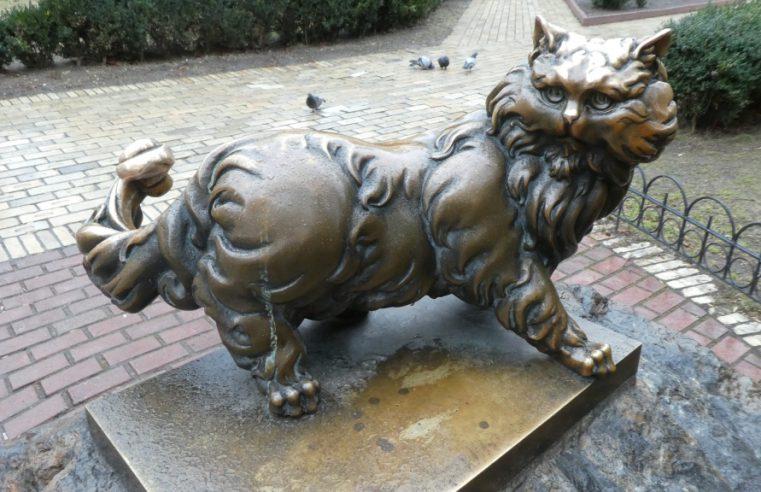 Обзор памятника коту Пантелеймону в Киеве (+месторасположение +детальные фото +стереофото +видео)